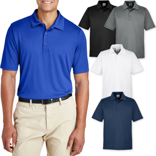 Mens Moisture Wicking Polo Shirt UV Protection Performance XSXL 2X, 3X, 4X NEW!