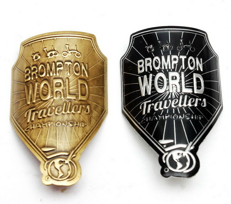 Details about  /Bicycle Metal Head Badge decal head stem Sticker For Brompton Bike