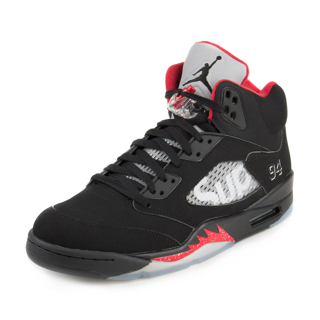 Nike Mens Air Jordan 5 Retro Supreme Black White-Varsity Red 824371-001