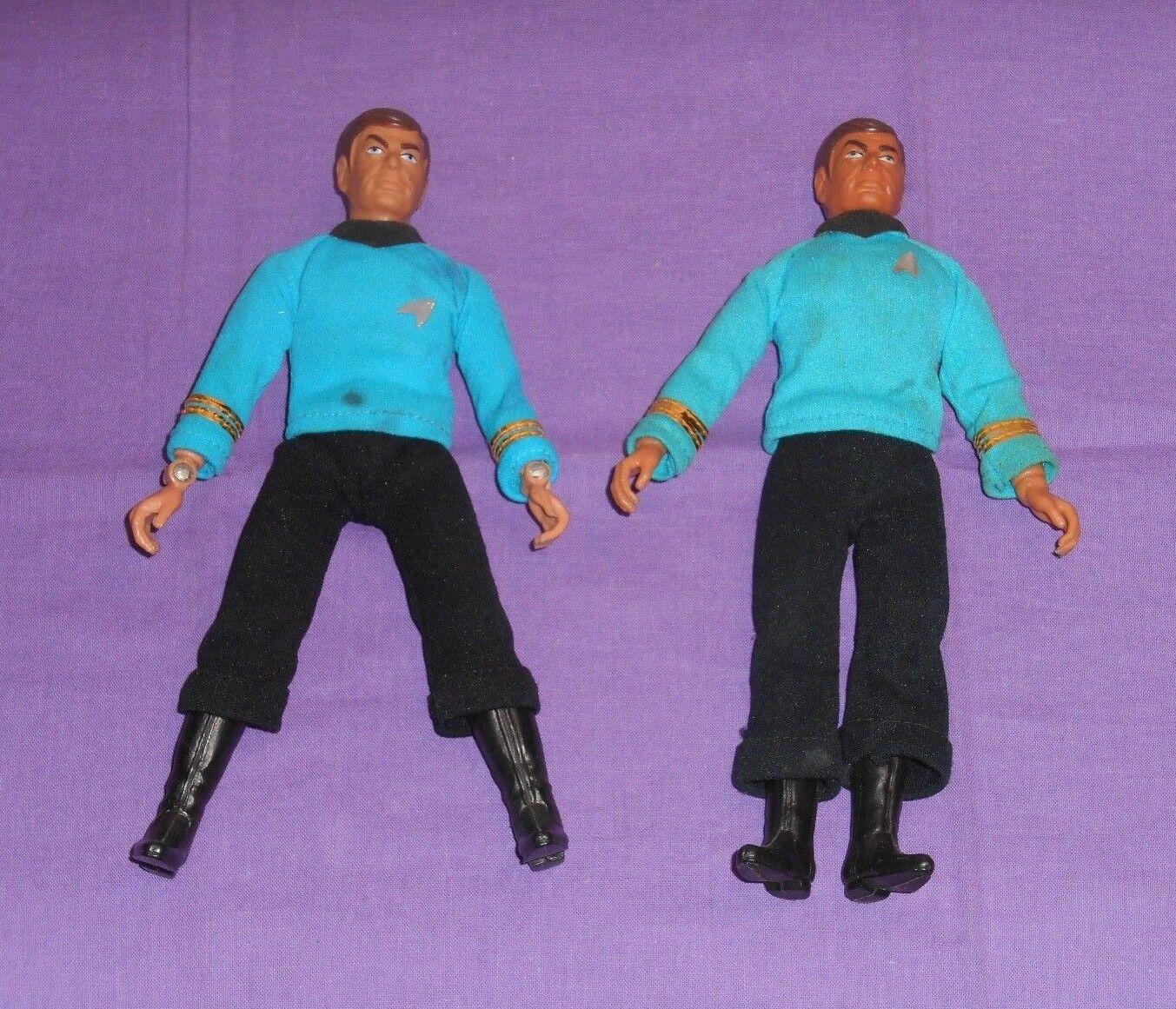 Vintage Mego Estrella trek 8  huesos McCoy Lote x2 (tipo 1 y tipo 2)