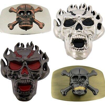 Skull Mittelalter Buckle Gotik Pentagram Totenkopf Metal Gürtelschnalle *018