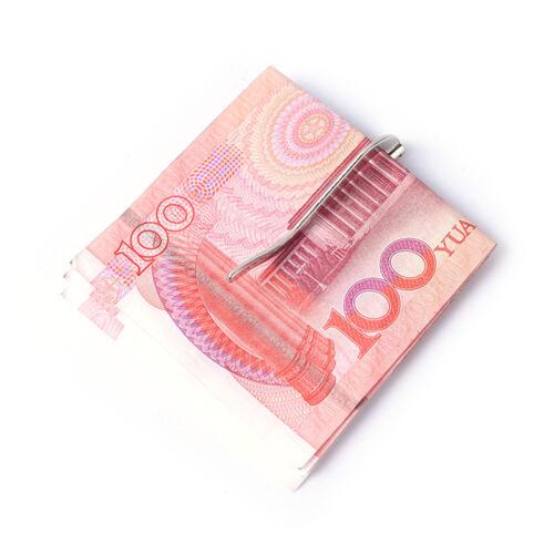 1X Spring Metal Money Clip Stainless  Cash ID Credit Card Money Holder Clicda HK