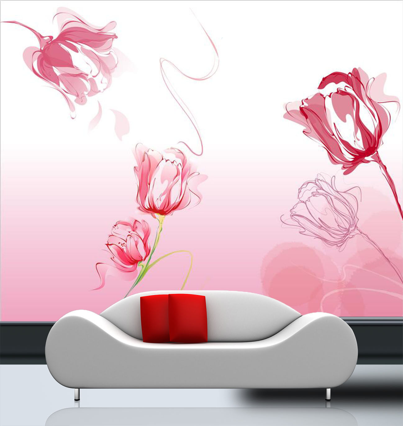3D Rver Narcisse 2 Photo Papier Peint en Autocollant Murale Plafond Chambre Art