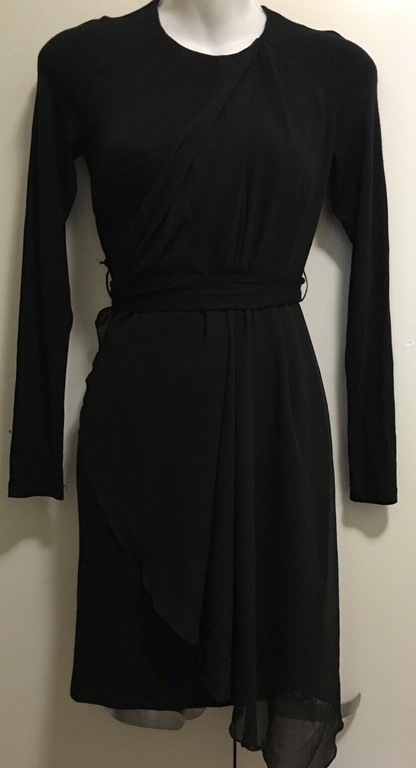 Bebe Asymmetric Draped Dress Size XS