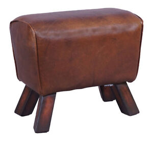 design fu hocker buck vintage leder sprungbock design vintage cigar hocker neu ebay. Black Bedroom Furniture Sets. Home Design Ideas