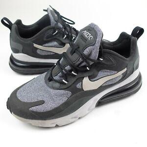Nike-Air-Max-270-React-Mens-Running-Shoe-Size-8-5-Black-Grey-White-AO4971-001