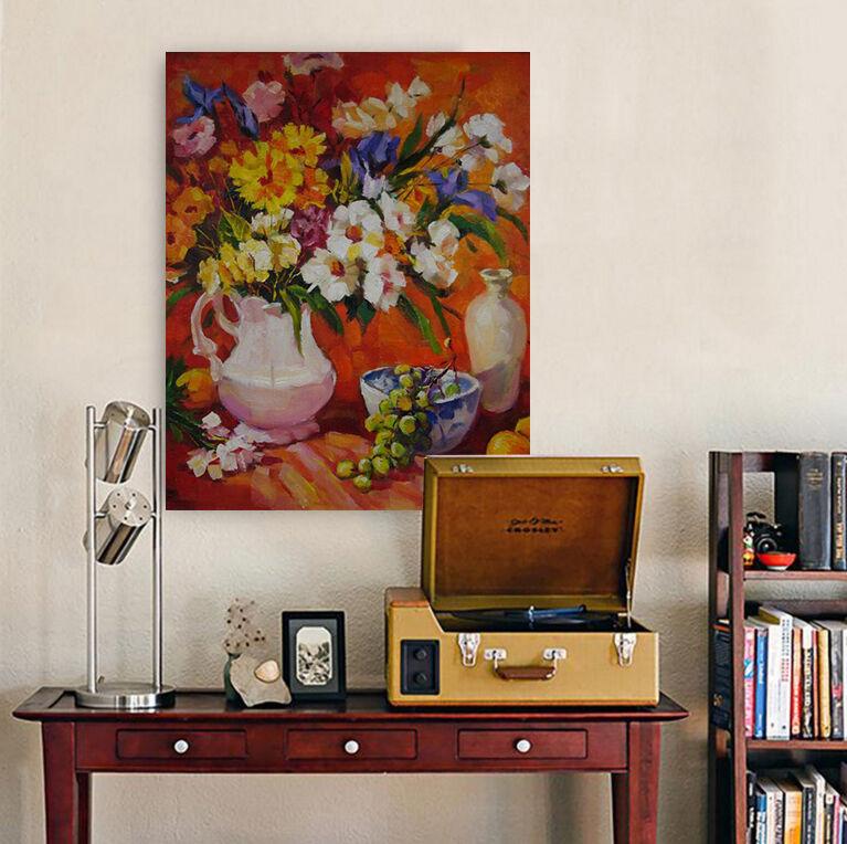 3D Blumen in vase 62 Fototapeten Wandbild BildTapete Familie AJSTORE DE Lemon