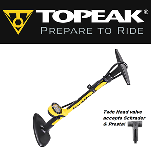 Topeak TJB-S6 Joe Blow Sport III Bike Floor Pump Twin  Head Tire Gauge 160 PSI  factory direct sales