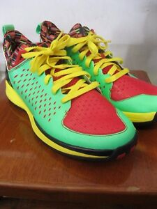 Adidas D Rose 3.0 Low sz 11 Green Zest Light Scarlet Vivid Yellow ... 7e10c0c43148