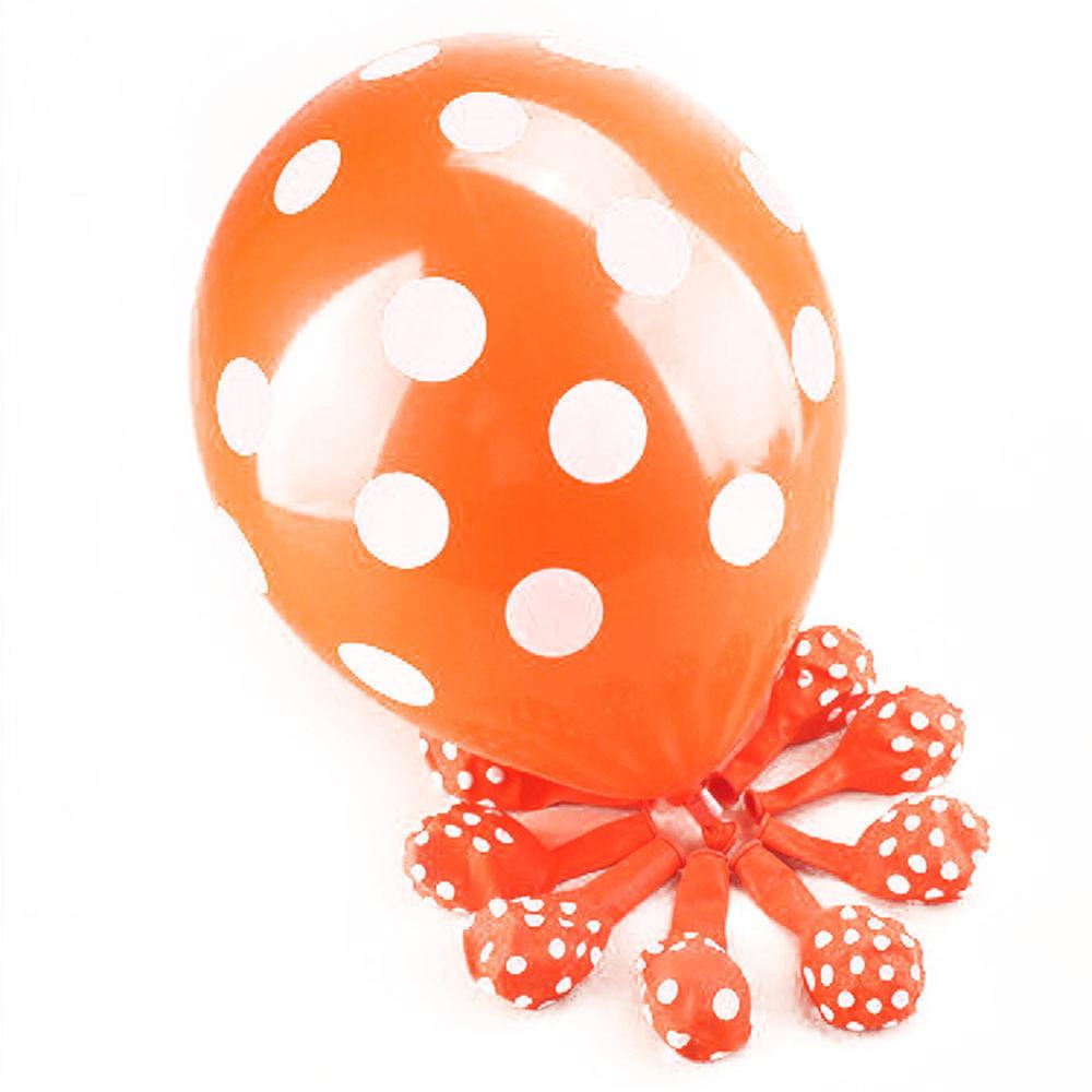 "orange marbré latex 11 /""balloon x 25 Superagate jaune"