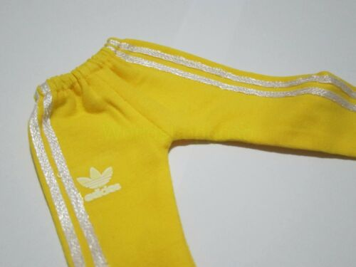 """1//6 Scale Hot Yellow Sport Sweatpants Pants For 12/"""" Action Figure Dolls Toys"""