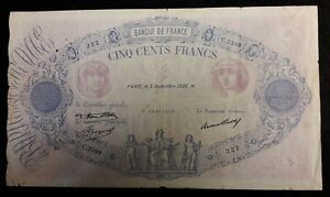 500 Francs Bleu Et Rose 3 Septembre 1936 - Type 1888 Nw5xo3wl-07232817-694833344