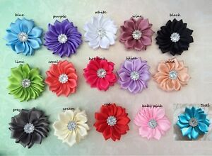 1-POST-DIY-mini-Satin-Daisy-Flower-Embellishment-baby-Headband-Handmade-Craft