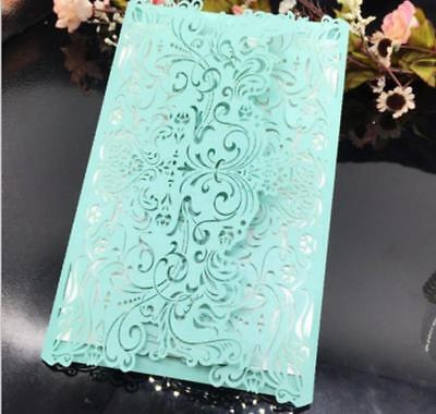 Laser Cut Wedding Favour Invitation Card Engagement Invite Blank Card+Envelope
