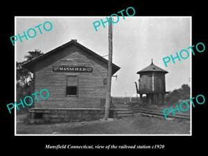 OLD-LARGE-HISTORIC-PHOTO-OF-MANSFIELD-CONNECTICUT-THE-RAILROAD-STATION-c1920
