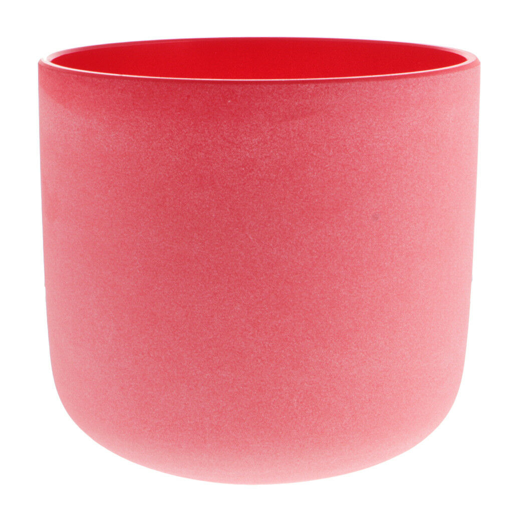 Frosted C Note Root Chakra Crystal Singing Bowl 7Inch Perfect Sound Red