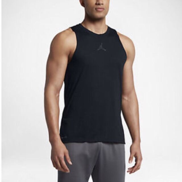 dec15ec63d8e40 Nike Air Jordan 23 Tech Cool 2xl Tank Top Training Vest 842899 010 Black