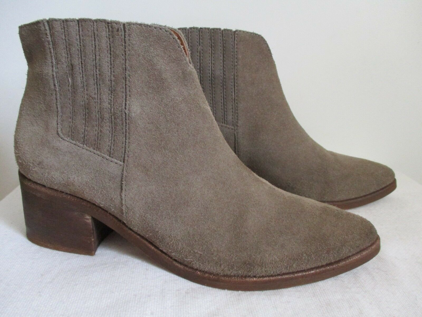 Madewell Suede Damenschuhe Pull On Taupe Ankle Stiefel Größe 10 US