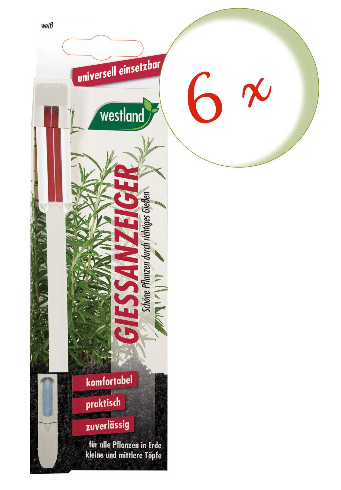 Savings Set: 6 X Westland Indicator For Flower Soil, 16 CM White