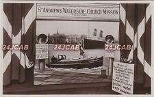 Kent Real Photo RPPC. St. Andrews Waterside Church Mission. Sailors! Naval! 1926