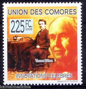 Comoros-2009-MNH-Thomas-Edition-USA-Inventions-mass-communication-Q2n