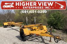 1999 Sauber 1599 Gt Pole Trailer Service Utility Steerable 16300lb Gvwr Yellow