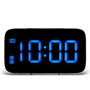 17549dd0d Chargement de l image en cours Grand-Ecran-Led-Alarme-Numerique-Snooze- Horloge-Commande-