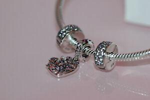 Details about NIB 2020 PANDORA Sparkling Pink Heart Family Tree BRACELET  gift set B801426 $205