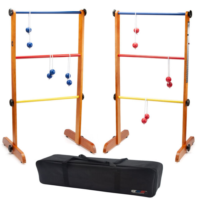Costway Portable Ladder Ball Toss Game Outdoor Set W Bags /& Balls SP36976 for sale online