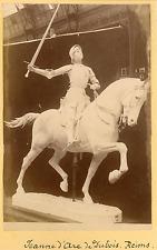 France, Reims, Jeanne D'Arc de Dubois  Vintage albumin print Tirage a
