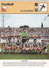 FOOTBALL carte  fiche photo  équipe de la JUVENTUS 1977
