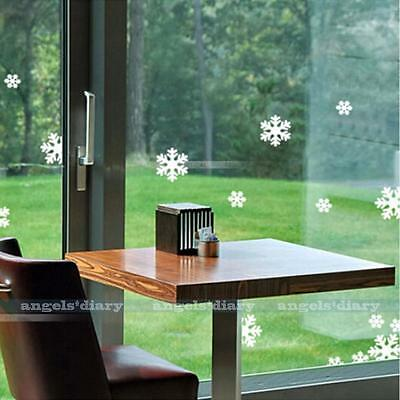 White Snow Wall Sticker Decal Wallpaper Home Chrismas Window Door DIY Decor