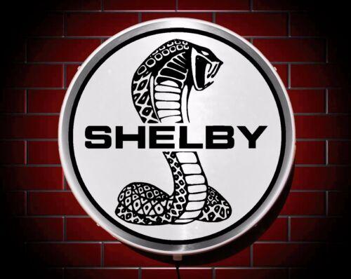 SHELBY LED 600mm ILLUMINATED GARAGE WALL LIGHT CAR BADGE SIGN LOGO MAN CAVE GIFT