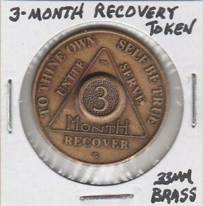 T-Token-Three-Month-Recovery-Token-33-MM-Brass