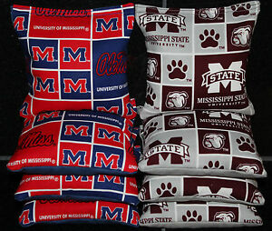 All Weather Cornhole Bean Bags Mississippi State Bulldogs