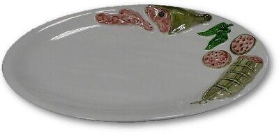 BASSANO Meeresfrüchte Fischteller Servierteller italienische Keramik 28x19