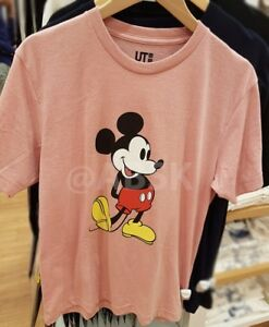 a0f16fa251a Uniqlo Men Disney Mickey Mouse Stands Short Sleeve Graphic T-Shirt ...
