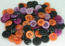 60 SMALL HALLOWEEN (Black Orange Purple) Buttons New - Great for Craft projects
