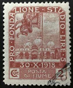 ITALY-Fiume-Sassone-n-70-used-cv-80