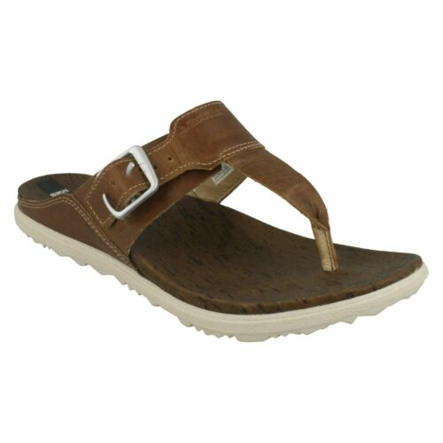 LADIES MERRELL J03746 AROUND TOWN POST MULE LEATHER CASUAL SUMMER SLIDES SANDALS