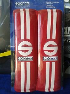 Sparco-Lager-Abdeckung-Baender-Rot-Tuning-Padding-Belts-Street-Sparco-Red
