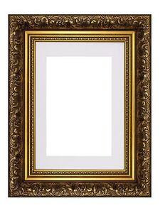 Ornate-Swept-Antique-Style-Picture-Photo-Frames-With-Mount-French-Style
