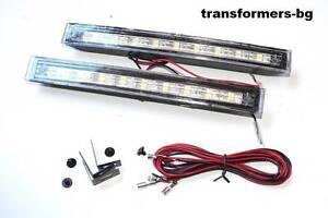 2-x-9-SMD-LED-Tagfahrlicht-Tagfahrleuchten-TFL-DRL-Xenon-12V-Neu-Weiss-6000k-Neu