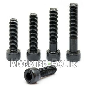 7//16-20 x 1-1//2 Size Flat Head Socket Cap Screws Metric Hardware Fastener Kit Grade 8 Steel Black Oxide Set of 5
