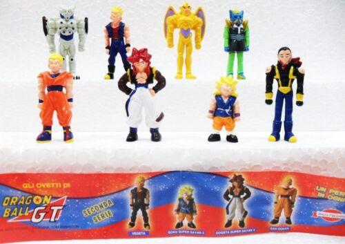 Dragon Ball GT 8 personaggi serie completa plastica dura Dolci Preziosi cm.4//4,2