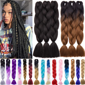 Box Braid Ultra Hair For Jumbo Braiding Extensions Crochet Ombre