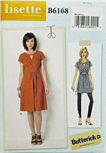 Butterick B6168 Surplice Dress w Fitted Midriff Sz 6-14 14-22 UNCUT Pattern