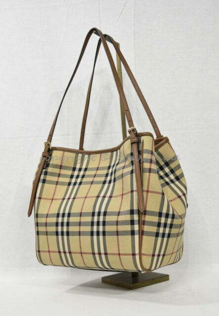86be0188b9b4 NWT Burberry Horseferry Check Small Canterbury Tote in Honey Tan. Classic  Canter