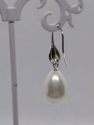Orecchini donna argento madreperla smaltata perla pendenti