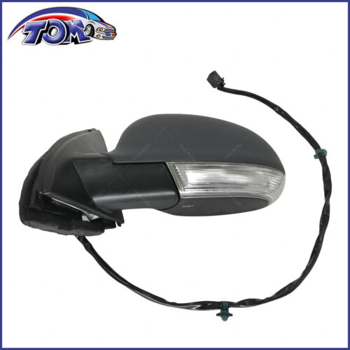 New Mirror Power Heated Turn Signal Puddle Light Driver Side Left for VW Jetta